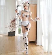 Sexy lingerie playful spot cute cow maid uniform