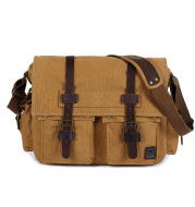 Men's canvas shoulder bag
