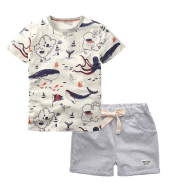 Children's suit boy's T-shirt trousers and shorts