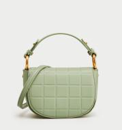 Women's green shoulder bag