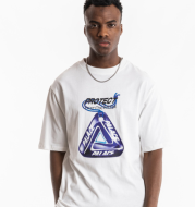 Round neck colorful street clothes men's T-shirt