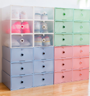 6 thickened and transparent shoebox drawer type