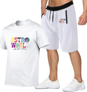 Cotton T-shirt fashion print short sleeve