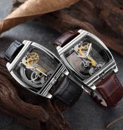SHENHUA barrel-shaped double-sided hollow automatic mechanical watch