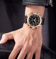 Quartz watch sports electronic dual display watch