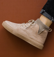 High-top British tooling casual shoes