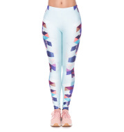 Printed sports bottoming yoga pants