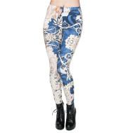 Printed cropped pants high waist leggings women
