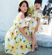 Women's and Women's Floral Dress