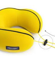 Portable memory travel pillow