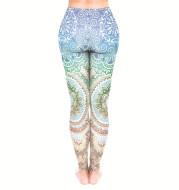 Mandala flower print leggings