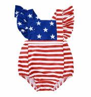 Striped star print jumpsuit
