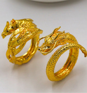 Dragon and phoenix lovers ring