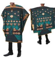 African Ethnic Print Batik Cotton Men's Casual Top