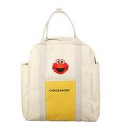 Cartoon embroidered schoolbag