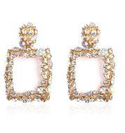 Female geometric square earrings