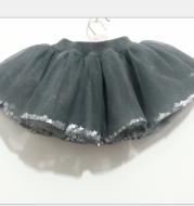 Girls' sequined tulle skirt