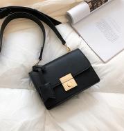 Women's lock shoulder bag