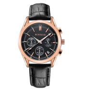 Six-pin quartz leather waterproof casual luminous watch