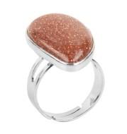 Semi-precious stone ring-shaped stones