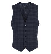Men's dark check suit vest