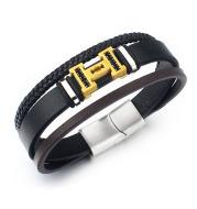 Three-layer braided diamond bracelet