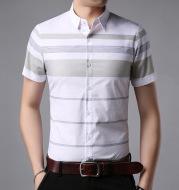 Men's lapel short-sleeved shirt