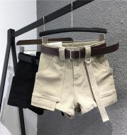 Loose big pockets wide leg pants hot pants