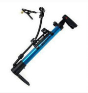 Portable mini-bicycle air pump