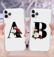 Flower alphabet mobile phone case