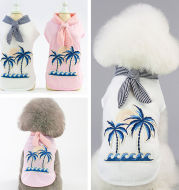 Coconut tree embroidery from pet clothing