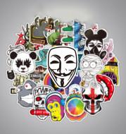 Cartoon graffiti body sticker