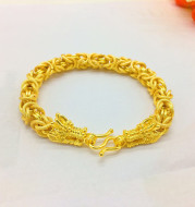 Gold bracelet for men gold plated 24K simulation jewelry bracelet