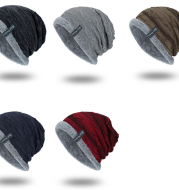 Knitted woolen cap to keep warm in winter
