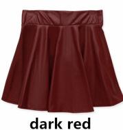 High waist Faux Leather Skirt sun skirt pleated skirt