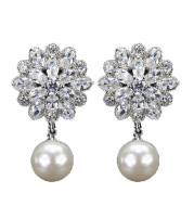 Ice prism micro-set zircon earrings