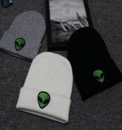 Alien knitted woolen cap