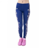 European and American printed cropped trousers
