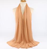 Chiffon folk style ball scarf