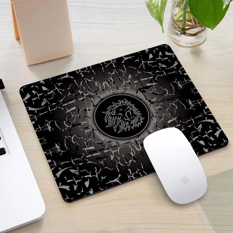 tapis de souris gaming rectangle motif lion