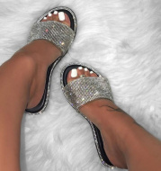 Snake-print multicolor sandals and slippers