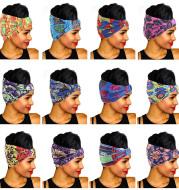 African print wide headscarf