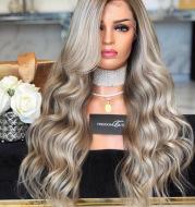 Wig high temperature silk chemical fiber hair
