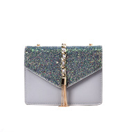 Sequined shoulder messenger bag wild chain small square bag