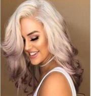 Gradient lilac long straight hair