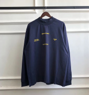 Round neck long sleeve cotton bottoming shirt