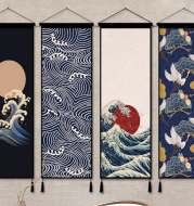 Japanese style living room background wall tapestry