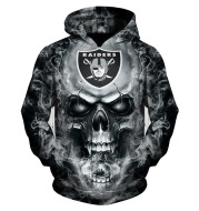 Hooded sweatshirt with printed hood