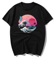 Printed short-sleeved round neck T-shirt