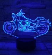 Motorcycle 3D night light
